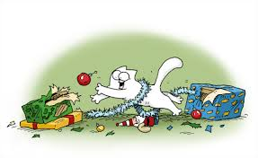 On day of Christmas  I spent festive time with Simon's Cat