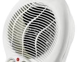 fan heater. white floor fan heater