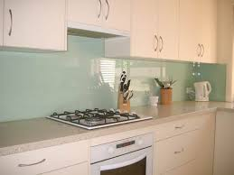 two tone kitchen glass splashback with feature tile