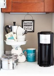 It reminds me of the hotel service. 15 Home Coffee Station Ideas For Every Budget