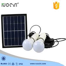 Portable Solar Lighting Kit HKYH Solar Lighting Kit With Solar DC Solar Powered Lighting Kits