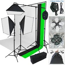 am studio lighting. Linco_store 2000 W Photo Studio Lighting Kit-3 Color Muslin Backdrop \u0026 Background Stand Photography Am
