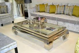 glass and chrome coffee table set round black australia
