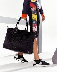 Quilted bow large nylon tote bag - Black | Bags | Ted Baker ROW & Previous Next Adamdwight.com