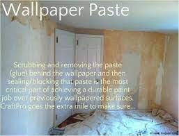 remove wallpaper paste from plaster