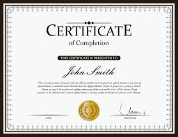 Certificate Of Completeion Certificate Of Completion Vector Premium Download
