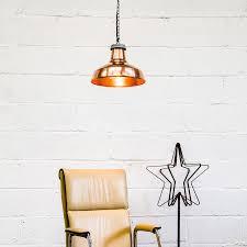 industrial copper pendant light