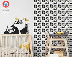 Panda Wallpaper + Large Wall Decal   Cute Wall Decor For Baby Nursery, Boys  Room