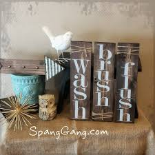 Laundry Decor Farmhouse Pallet Signs Rustic Bathroom Decor Signs Wash