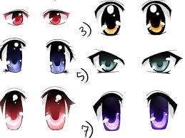 anime eyes color. Plain Color On Anime Eyes Color M