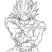 Small Picture Free Printable Goku Coloring Pages Aquadisocom