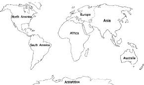 Small Picture Download Cut Out Continents Coloring Page