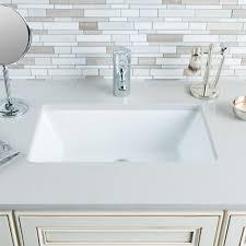 undermount rectangular bathroom sink. Hahn Ceramic VC014 Medium Rectangular Bathroom Sink, White - Amazon.com Undermount Sink U