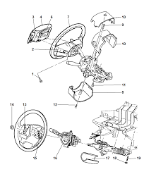 1999 jeep grand cherokee steering wheel assembly