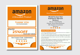 Amazon Fba Packaging Design I Will Design Amazon Thank You Card Product And Package