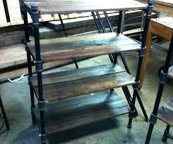 black pipe shelves medium size of compelling industrial cast iron made pair bookshelves diy