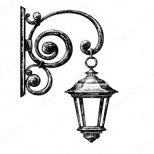 Drawing Street Light Sketch Of Street Light Stock Vector Tan_tan 125363150