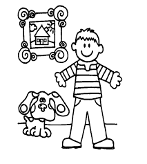 Drawing outline picture for children. Free Printable Boy Coloring Pages For Kids