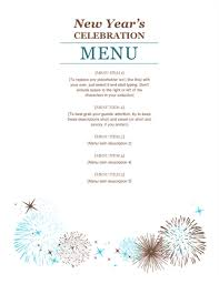 Party Menu Template Party Menu Template Magdalene Project Org