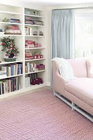 pink cotton dash and albert rugs for beautiful family room design