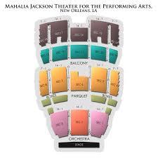 Mahalia Jackson Theater Of The Performing Arts 2019 Seating