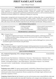 writing an engineering resumes aerospace engineer resume sample template