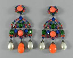 kenneth jay lane kjl vintage 1960 s chandelier statement earrings in excellent condition for in toronto