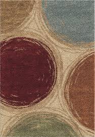orian rugs plush circles sketching circles multi area rug 5 3 x 7 6