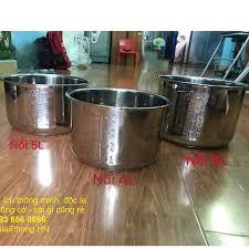 Lòng nồi áp suất điện đa năng bằng Inox các cỡ 5L 6L 4 lít, 5 lít, 6 lít