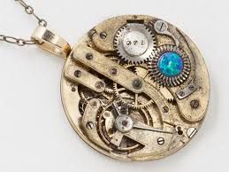 17 best ideas about gold pocket watch pocket watch black opal and gold pocket watch necklace steel gears victorian pendant statement necklace steampunk mens