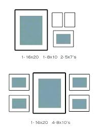 8 X 10 Heart Template 4 Photo Collage Template Gallery Wall Frame Picture Frames