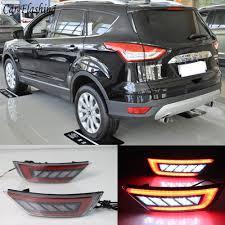 Change Brake Light 2014 Ford Escape Us 34 99 10 Off For Ford Escape Kuga 2013 2014 2015 2016 2017 2018 Car Right Rear Bumper Reflector Lights Rear Fog Lamp Assembly In Car Light