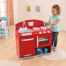 image of wooden play kitchen ideas