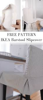 how to sew a parsons chair slipcover for the ikea henriksdal bar stool dining room chair slipcoversdining room chairsbar