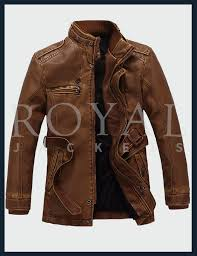 washed belted motorcycle leather jacket for men