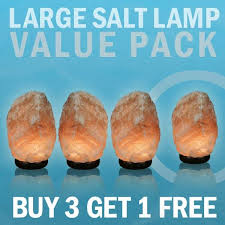 large salt lamp value pack 3 get one free