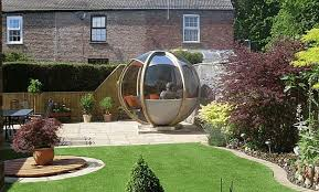 Small Picture Sphere Garden Houses Adding Contemporary Touch to Backyard Landscaping