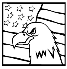 Small Picture American Eagle and US Flag Celebrating Veterans Day Coloring Page