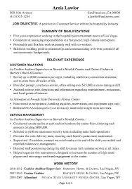 Resume Sample Customer Service Hospitality Unique Local Resume Services