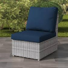 corliving blended grey wicker armless