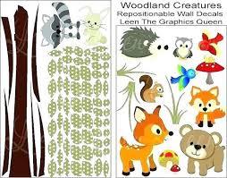 Woodland Animals Wall Stickers Branch Decals Animal Creatures Creature