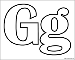 They will help to remember the alphabet, numbers, and account on the associative level. Classic Letter G Coloring Pages Alphabet Coloring Pages Free Printable Coloring Pages Online