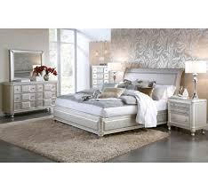 Silver Furniture Bedroom Hefner Silver 5pc Queen Bedroom Group Badcock More