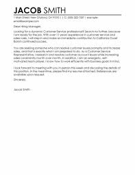 Cover Letter Examples Customer Service Representative A Resume For