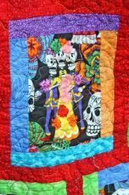 Day of the Dead quilt by Do Palma | Dia de los Muertos quilts ... & Day of the Dead quilt Adamdwight.com