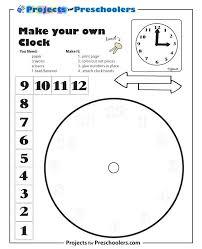 Clock Template To Make Clock Template Printable Clock