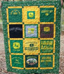 john deere themed t shirt quilt commissioned t shirt quilt flickr john deere novelty quilt fabric