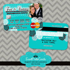 Credit Card Party Invitations Turquoise Wedding Invitations Turquoise Wedding Invitations Credit