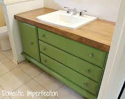 turn a dresser into a bathroom vanity
