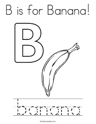 Small Picture Practice writing the word banana Coloring Page Twisty Noodle